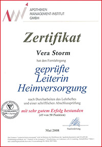 Zertifikat Vera Strom