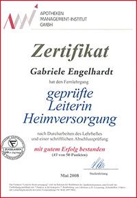 Zertifikat Gabriele Engelhardt