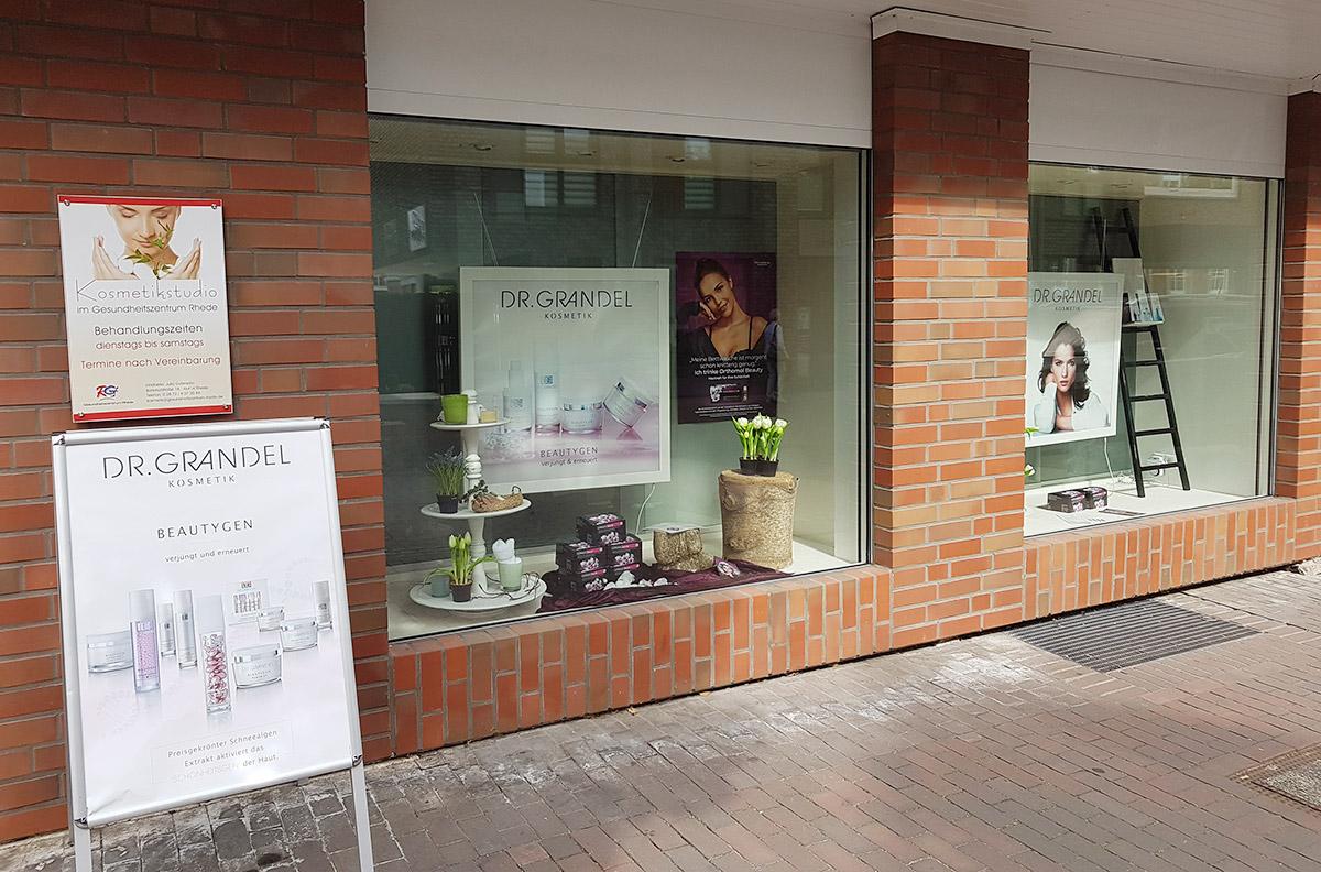 Das Kosmetikstudio von außen.