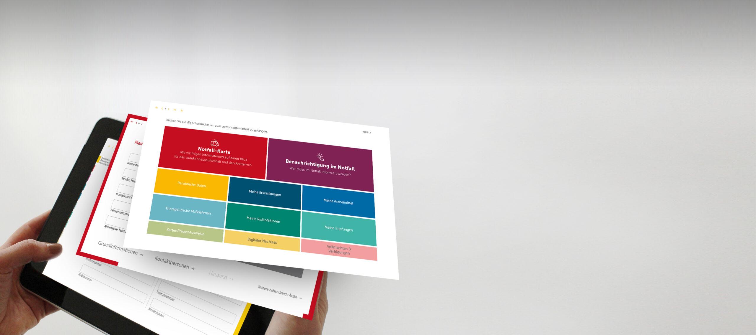 Header der die Inhalte des Vorsorge-Set SIGUDOKS illustriert